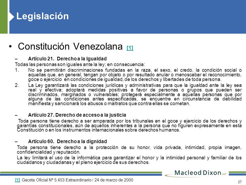Constitución Venezolana [1]